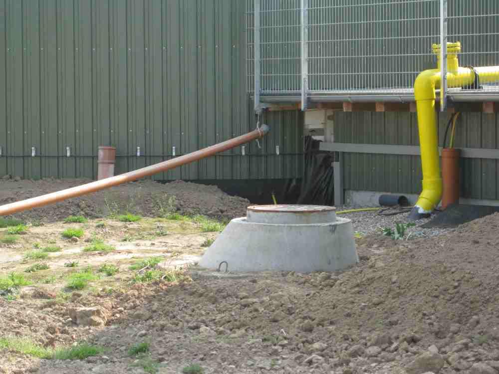 Biogas-Kondensatschacht