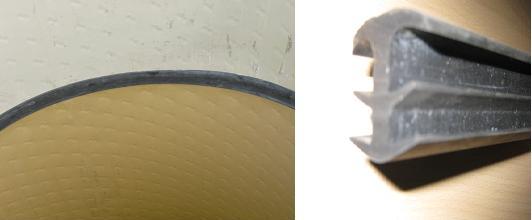 Fugenverschluss zweier Schachtbauteile (gas- und wasserdicht)