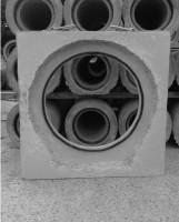 Rohrkupplung Falzrohr mit Fuß und Betonrohr