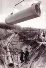 Betonrohrverlegung ca. 1960