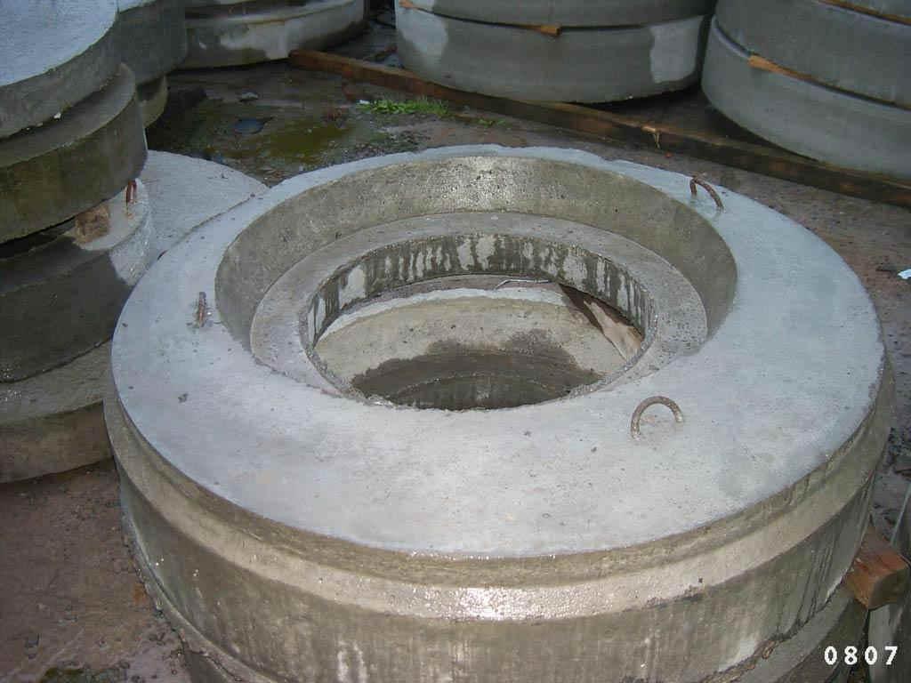Abdeckplatte mit 100 mm tiefer Verschiebesicherung in die die komplette Abdeckung eingelassen wird.